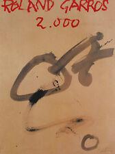 Antoni Tapies Roland Garros 2000 signed