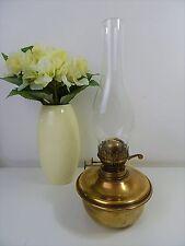 VINTAGE VICTORIAN BRASS TWIN DUPLEX BURNER OIL / PARAFFIN LAMP - KEY RISER