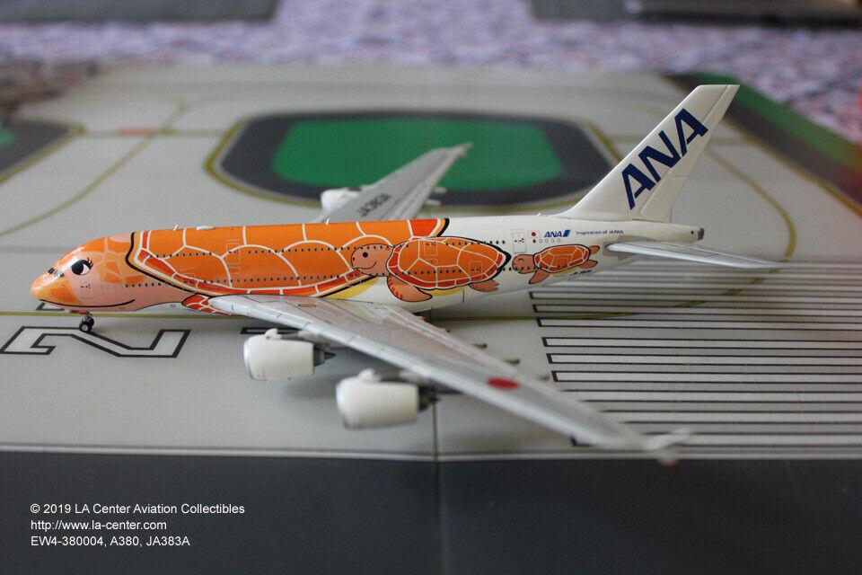 JC Wing All Nippon ANA Airbus A380 en volant  Honu Ka La Orange Diecast Model 1 400  qualité pas cher et top