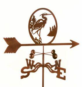 Bird-Blue-Heron-Weathervane-Steel-w-Copper-Vein-Finish-w-Choice-of-Mount