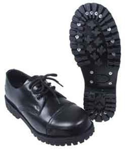 Ranger Stiefel Knightsbridge-Gothic Style Stiefel 3-Loch mit Stahlkappe schwarz neu