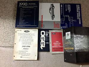1990-Ford-Mustang-Gt-Cobra-Servicio-Tienda-Reparacion-Manual-Juego-con-Ewd-Mas