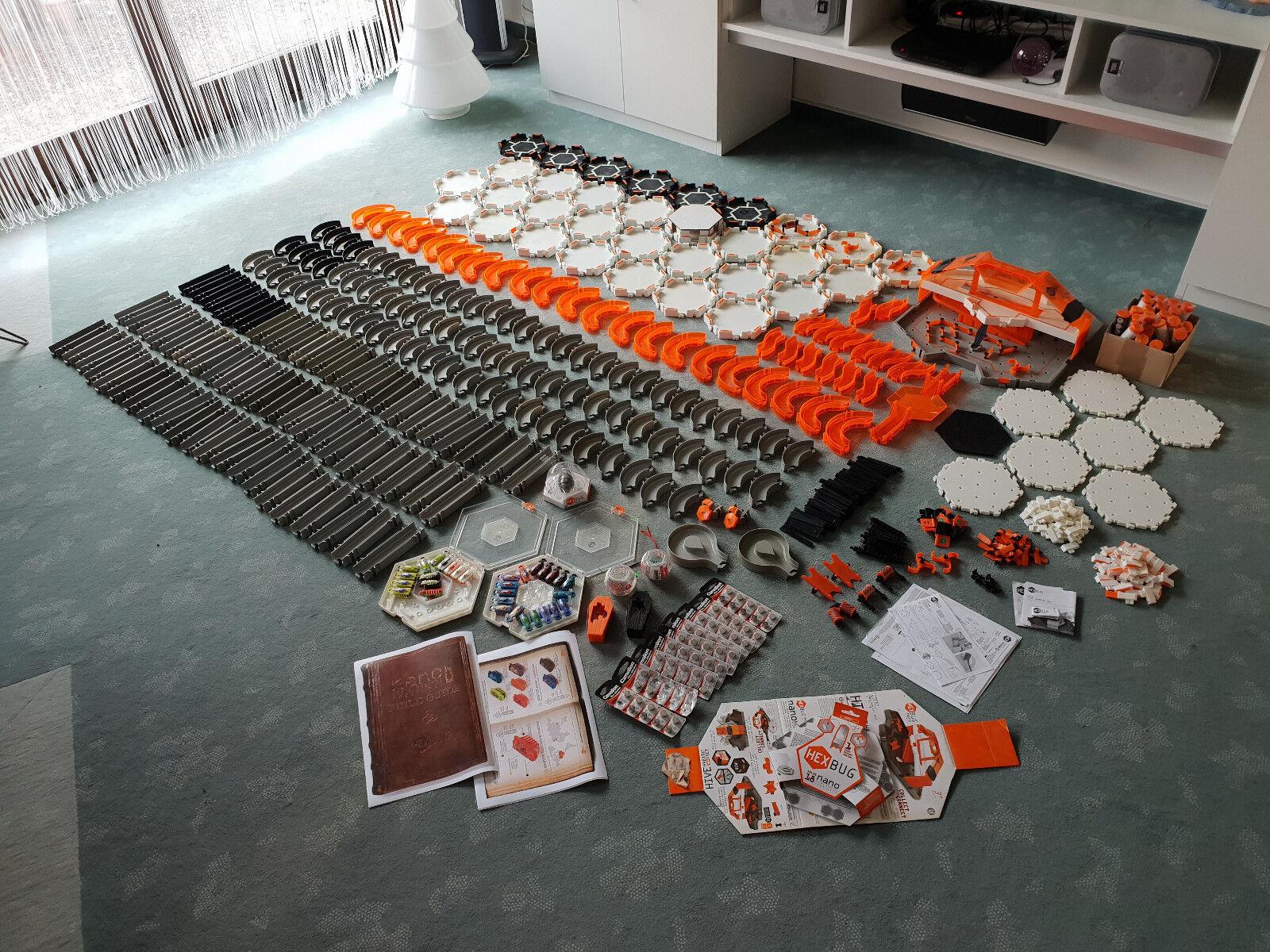 Hexbug Nano Mega XXL Paket mehrere x100 Teile Bahnteile, Seilbahn, Hive, Zubehör