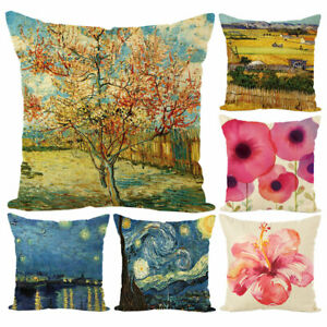 Am-FT-KF-Field-Starry-Sky-Flower-Throw-Pillow-Case-Cushion-Cover-Bed-Car-Home