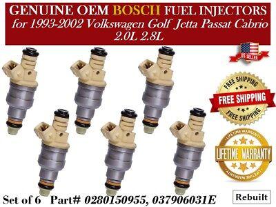 OEM Genuine Bosch Fuel Injector Set Lifetime Warranty 4 0280150955