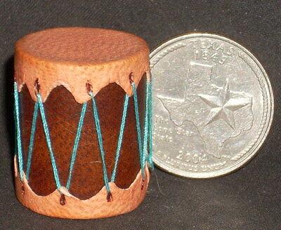Miniature Southwest Native American Indian Drum Plain 1:12 Prestige Leather 7388