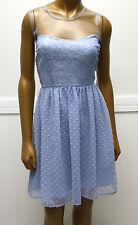 Rodarte for Target Blue Swiss Dot Lace Net Dress Sz 11
