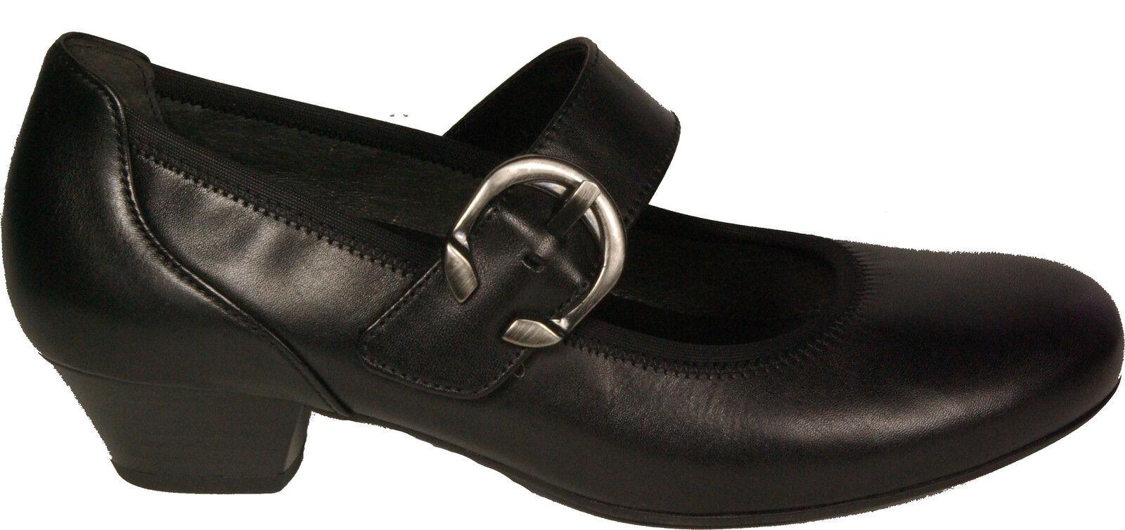 Gabor Chaussures Escarpins Mary Jane Noir en Cuir Véritable H-Large, paragraphe 35 mm NEUF Semelle Intérieure