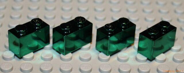 Lego 4x Green Chrome Brick 1x2  NEW!!!