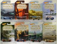 2016 Hot Wheels Walmart: Star Wars Planet Series - Complete 8 Car Exclusive Set
