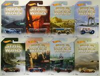 2016 Hot Wheels Walmart: Star Wars Planet Series - Complete 8 Car Exclusive Set