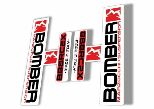 Marzocchi Bomber 888 RC2X 2006 Fork Suspension Sticker Decal Kit Adhesive White