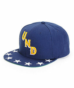 25573557 UNDEFEATED NAVY STARS 5 STRIKE SNAPBACK HAT/CAP 100% AUTHENTIC NEW w ...