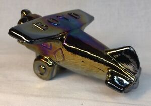 Boyd-Art-Glass-Airplane-In-Classic-Black-Carnival-2-Made-12-4-1991