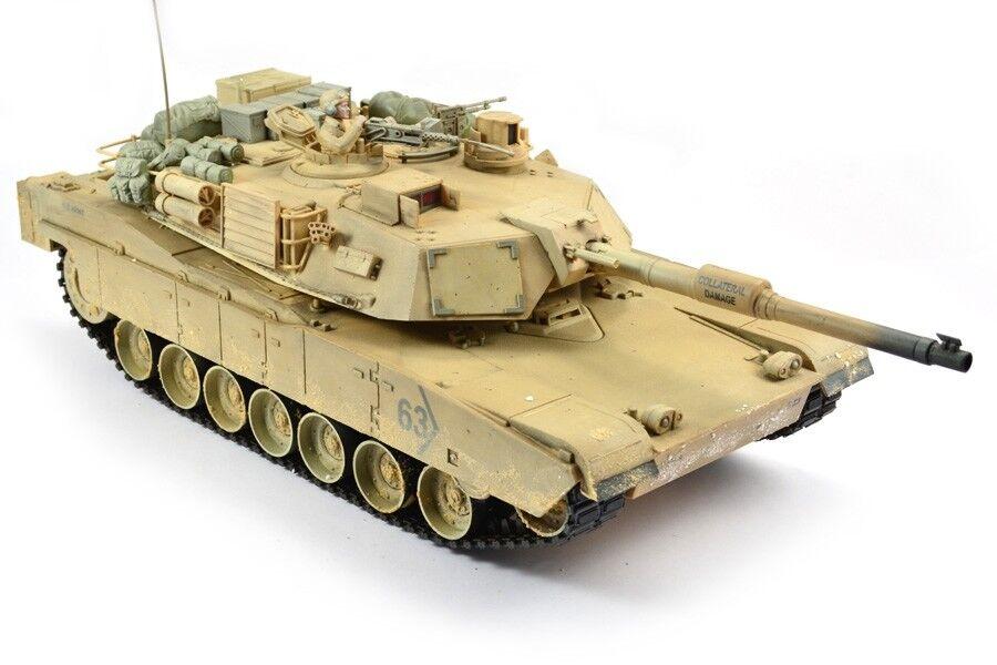 Hobby Engine Premium Label M1A2 Abrams Tanque 2.4G - Desert-HE0717