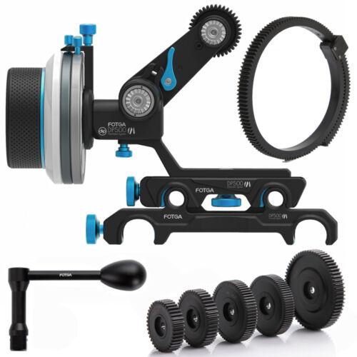 FOTGA PRO DP500III QR A/B Follow Focus 15mm/19mm Rod DSLR & Large Camera Rig Kit