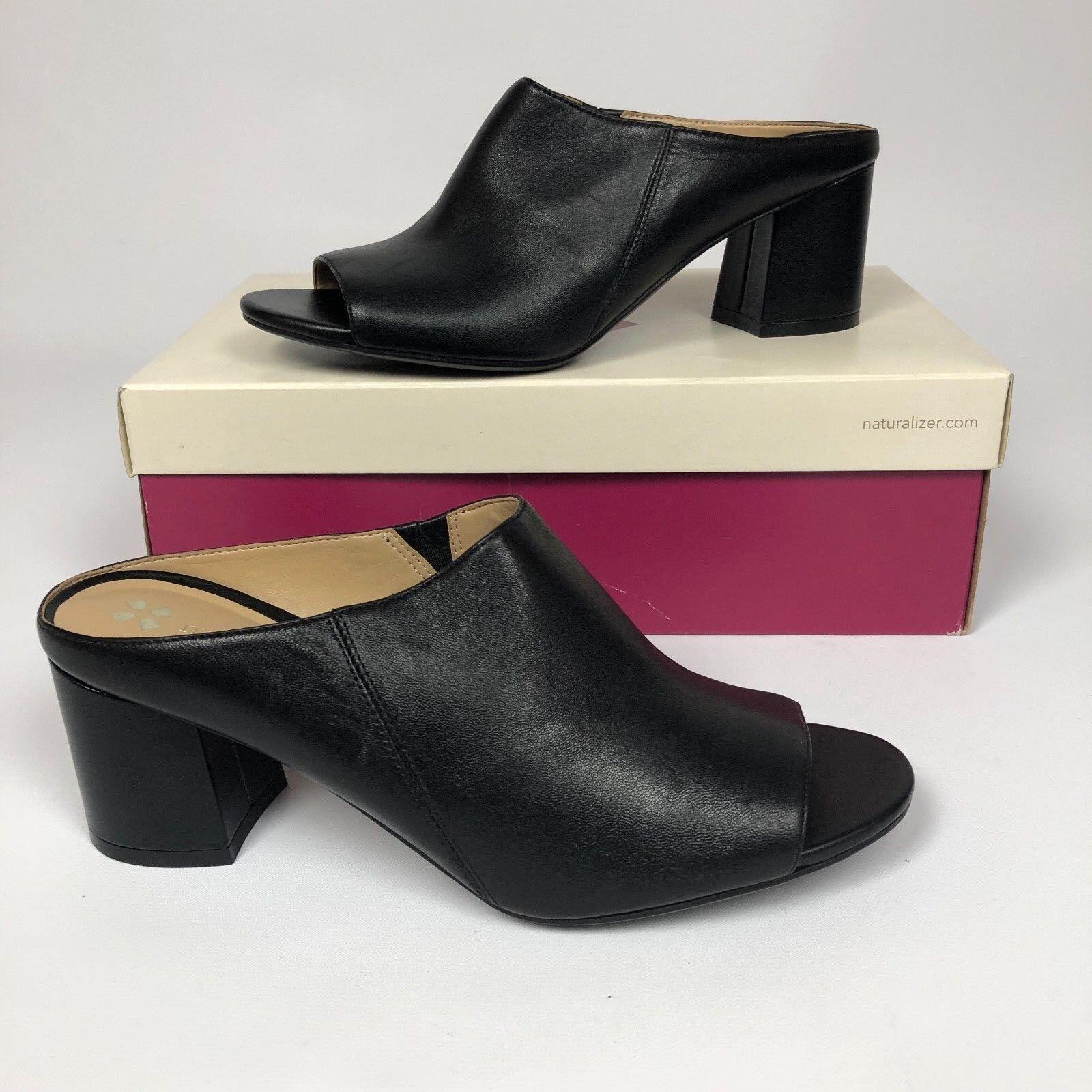 Naturalizer Women's Cyprine Dress Sandals Heels Black 7.5N