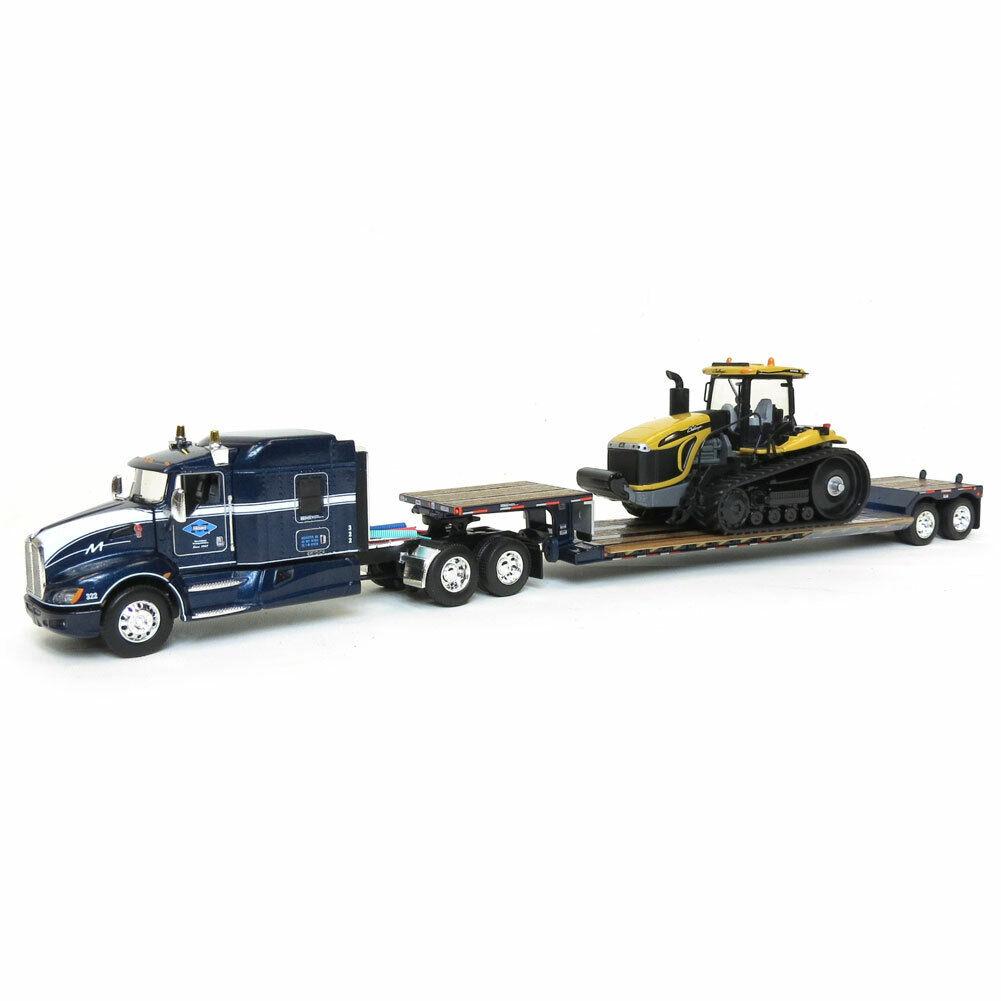 1 64 KENWORTH T660 W  LXT40 LOWBOY & CHALLENGER MT865C TRACTOR DCP 33752 NIB