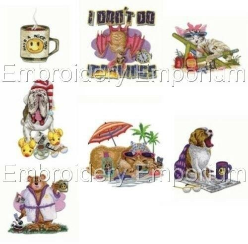MORNINGS COLLECTION MACHINE EMBROIDERY DESIGNS ON CD OR USB