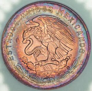 1965-Mo-MEXICO-20-CENTAVOS-TONED-BU-UNC-GORGEOUS-COLOR-CHOICE-GEM-DR