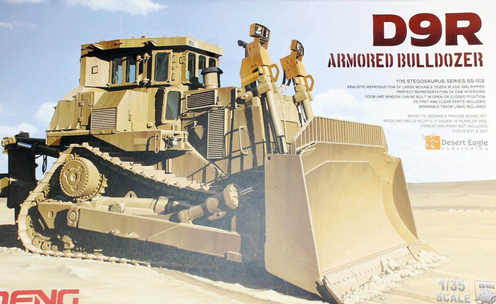 Plastic Model Kit Meng Model 1 35 SS-002 Caterpillar Armored Bulldozer D9R SS002