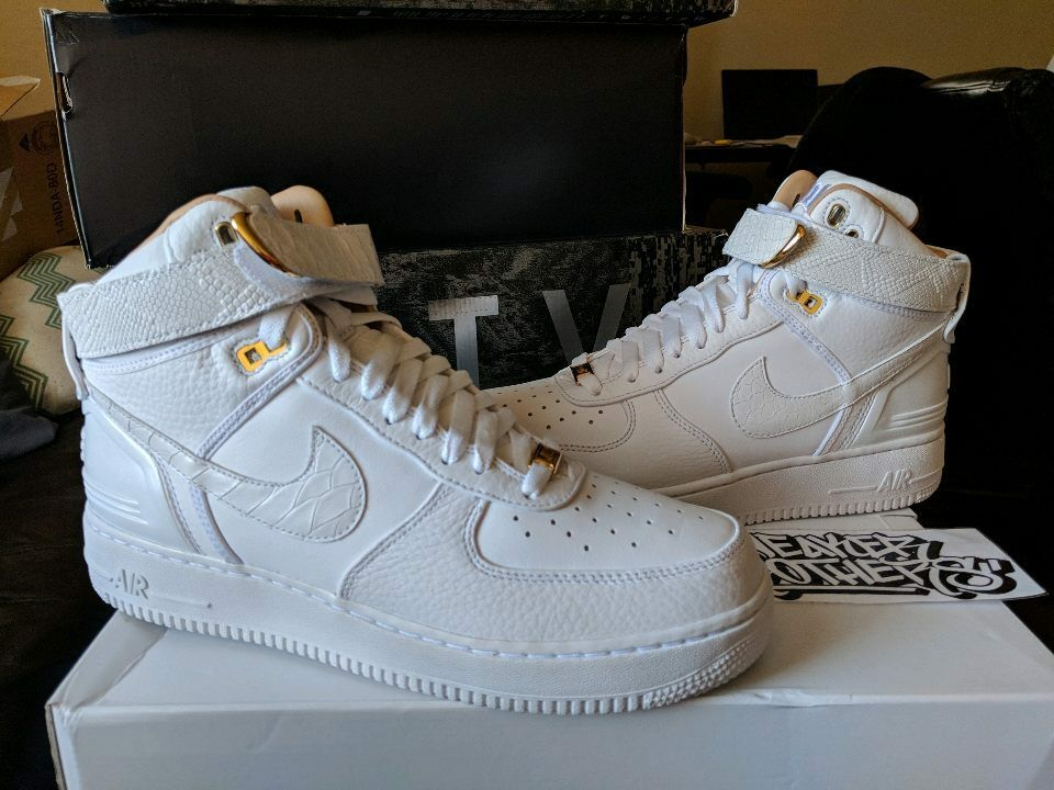 Nike Air Force One 1 Hi High x Just Don C AF100 Triple White Complex AO1074-100