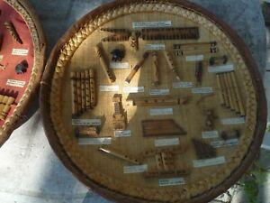 Instruments De Musique De Madagascar Reproduction Décorative Sur 2 Plateaux