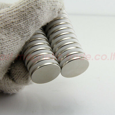 20mm x 2mm N50 Neodymium Super Strong Magnet with 3M™ Tape *FAST USA SELLER*