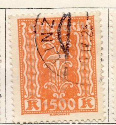 Original Austria 1922 Early Issue Fine Used 1500kr Stamps 092706 Extremely Efficient In Preserving Heat