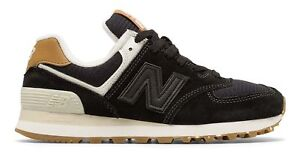 New-Balance-Female-Women-039-s-574-Classic-Sneakers-Cushioning-Technology-Black