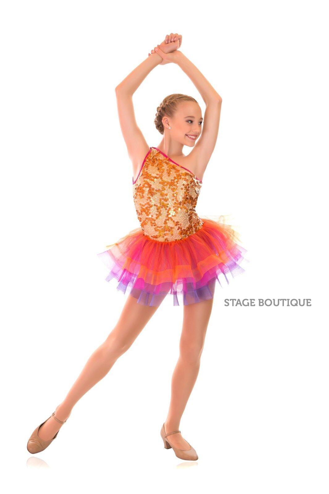 TO ORDER Latino Jazz Tap Modern Tutu Dress Sequin Girls Ladies Dance Costume