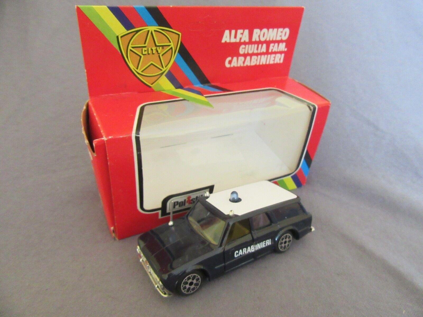 213G Polistil CE15 City Alfa Romeo Giulia Carabinegros De La Fam 1 43
