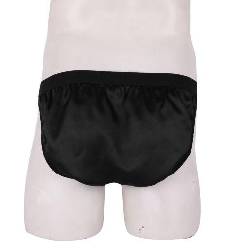 UK Men/'s Shiny Satin Bulge Pouch Bikini Briefs Sissy Thongs Jockstrap Underwear