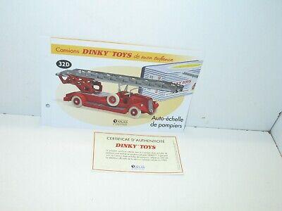 certificat DINKY TOYS ATLAS fiche fascicule ref 11500 citroen 2CV orange