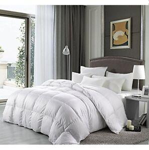luxury goose down comforter cal king size 1200 tc alternative white bedding ebay. Black Bedroom Furniture Sets. Home Design Ideas