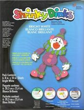 SHRINKY DINK DINKS PACK OF 6 BRIGHT WHITE 8 x 10 SHEETS, NEW