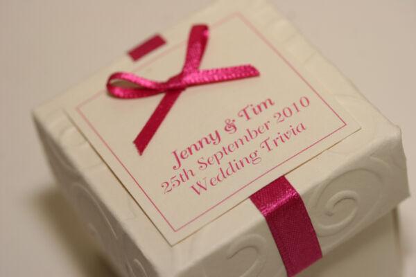 1 X Fatto A Mano Personalizzato Rosa E Avorio Favore Box-qualsiasi Quantità Qualsiasi Design