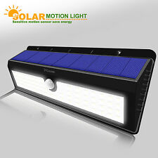 Solar Power Sensor Wall Light 62 LED Ultra Bright Wireless Security Outdoor Lamp