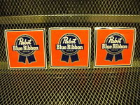 Pbr Pabst Blue Ribbon Beer 3 Pack Stickers 5 Square Decal