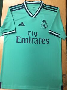 pretty nice 97300 a7bfc Details about Adidas Real Madrid Third Jersey 2019/20 Mint Blue Stadium Cut  Size Small Only