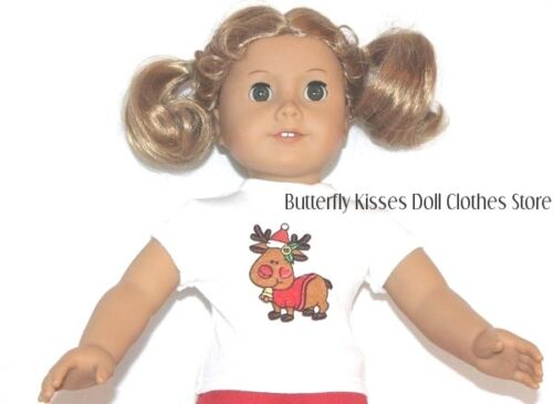 Christmas Reindeer T Shirt 18 in Doll Clothes Fit American Girl