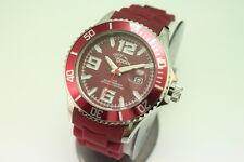 gooix Uhr GX06003150 Damenuhr Kautschuk Datum Weinrot Japanwerk UVP 99€ OVP