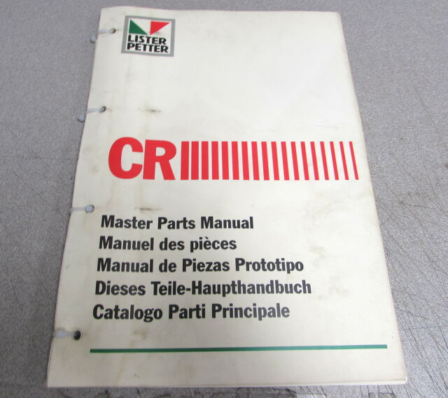Lister Petter Cr Series Engine Master Parts Catalog Manual