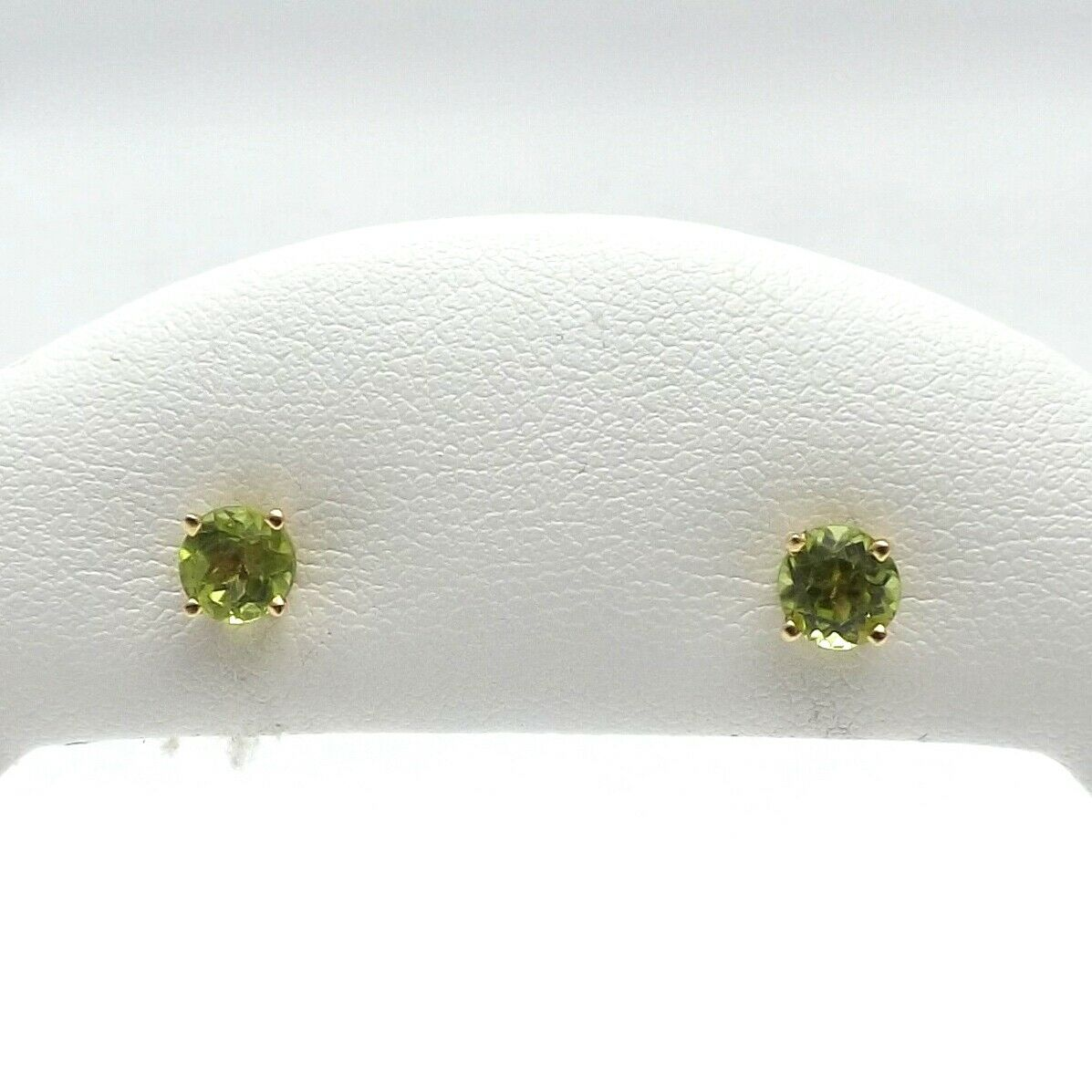 bd09536a2 New 14K gold Peridot August Birthstone Stud Earrings 1ctw Post ...