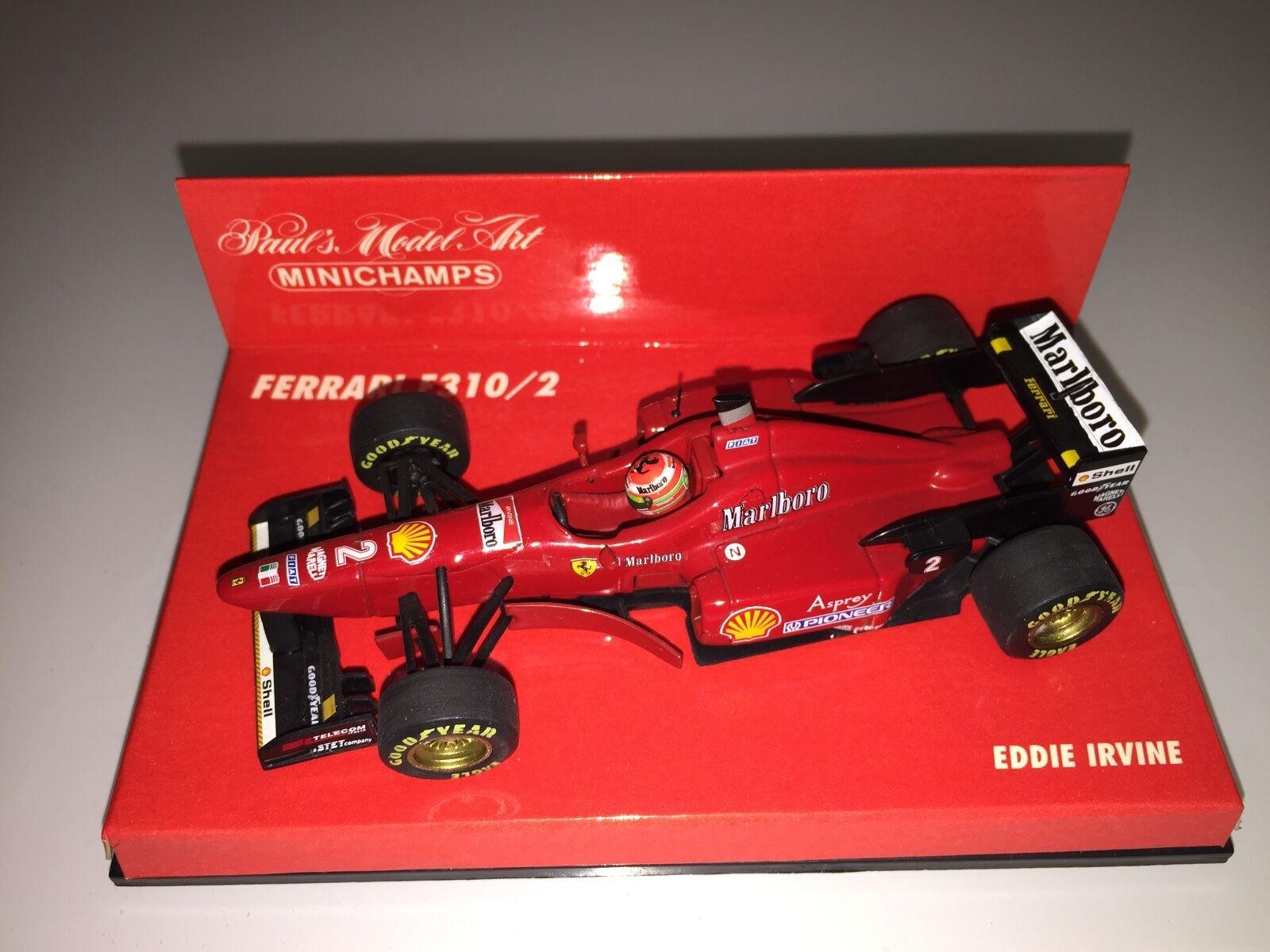 Ferrari 1 43 Eddie Irvine (Marlbgold) Very rare Minichamps 430960022