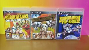 Borderlands-1-GOTY-2-Pre-Sequel-Sony-PlayStation-3-PS3-3-Games-Lot