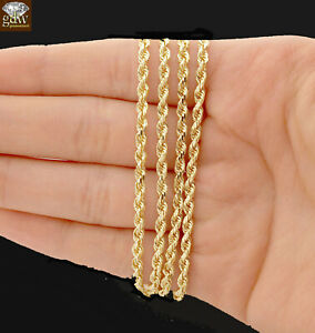 46da624a6e917 Details about REAL 14k solid Gold Rope Chain Necklace 22