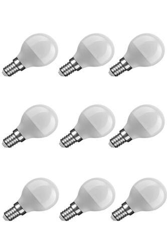9er Pack NuLoXx LED Globe Mini G45 6W//827 2700K 470lm warmweiß E14 180°