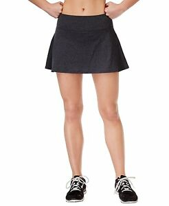 New IDEOLOGY Women's Active Fitness Tennis Spaced-Dyed Skirts Charcoal  Skort | eBay