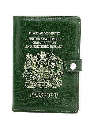 Gentile Passaporto In Pelle Fatto A Mano Highlander Cover Titolare Verde-mostra Il Titolo Originale